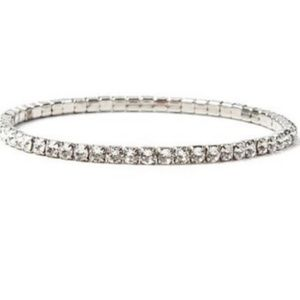 Swarovski Crystal Stretch Tennis Bracelet